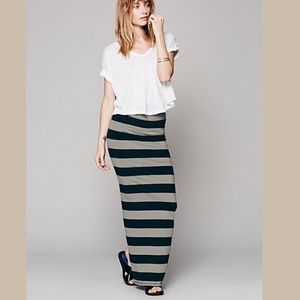 Free People Rugby Striped Skirt/Dress Size Small